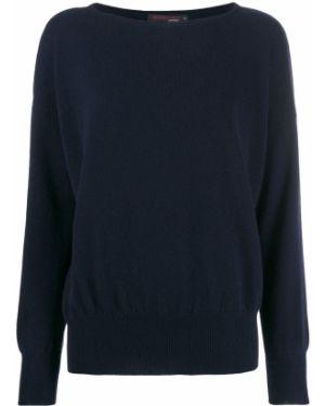 Синий свитер оверсайз в рубчик Incentive! Cashmere