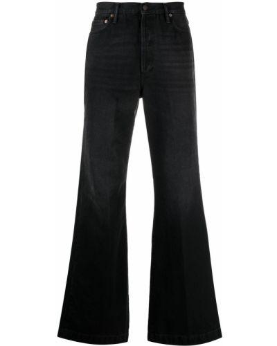 Klasyczne czarne jeansy bootcut bawełniane Acne Studios