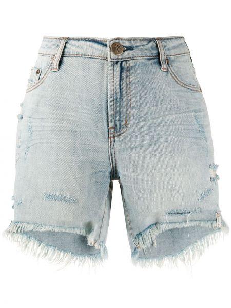 Классические джинсовые шорты со стразами с карманами на пуговицах One Teaspoon