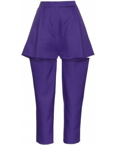 Фиолетовые брюки с бантом Marta Jakubowski