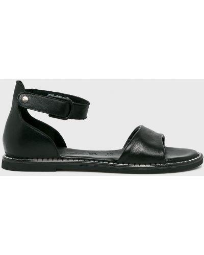 Черные сандалии кожаный Tamaris