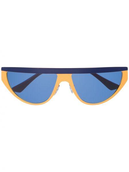 Желтые солнцезащитные очки металлические Marni Eyewear