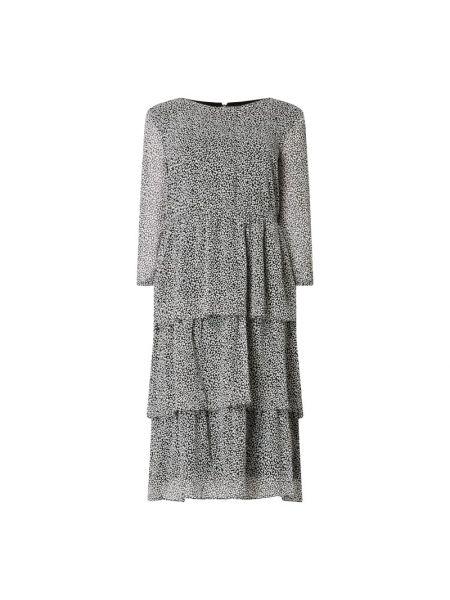 Czarna sukienka midi rozkloszowana z szyfonu Jake*s Collection