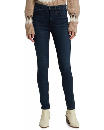 Klasyczne niebieskie jeansy rurki bawełniane Rag & Bone