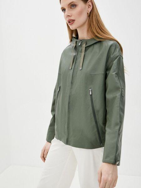 Кожаная зеленая кожаная куртка снежная королева