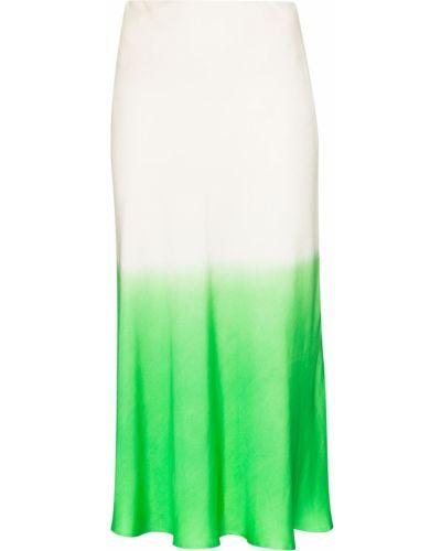 Белая шелковая юбка миди Carcel