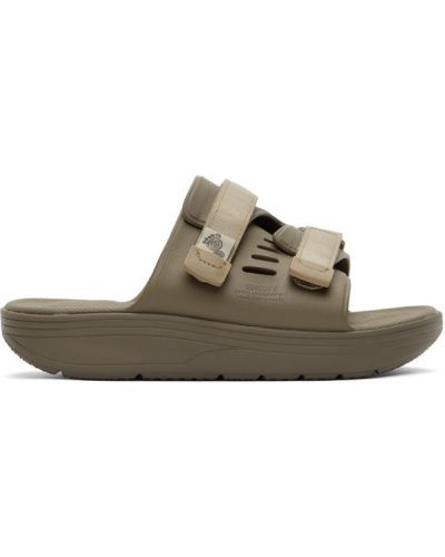 Открытые сандалии на липучках с перфорацией Suicoke