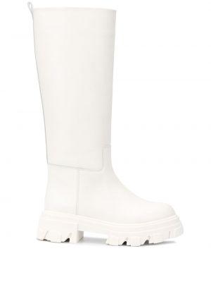 Кожаные сапоги - белые Gia Couture