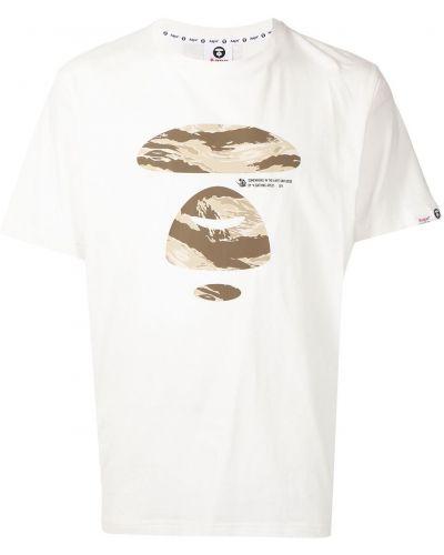 Biała koszulka bawełniana Aape By A Bathing Ape