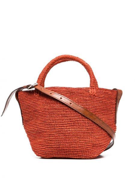 Pomarańczowa torebka skórzana Ibeliv
