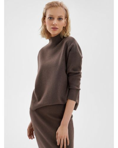Вязаный свитер - коричневый O'stin