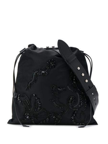 Skórzana torebka mini na ramię Prada