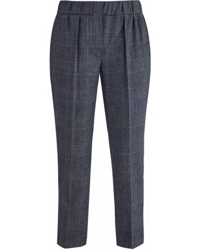 Классические брюки с лампасами с защипами Brunello Cucinelli