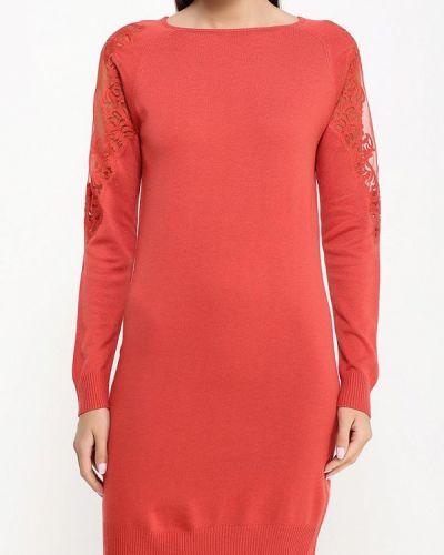 Трикотажное красное вязаное платье Patrizia Pepe