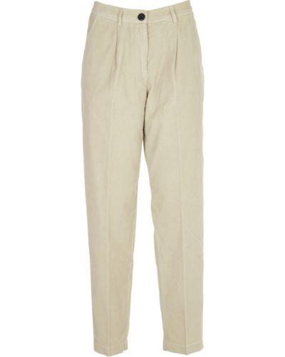 Białe spodnie Pomandere