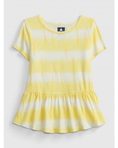 Tunika z printem - żółta Gap
