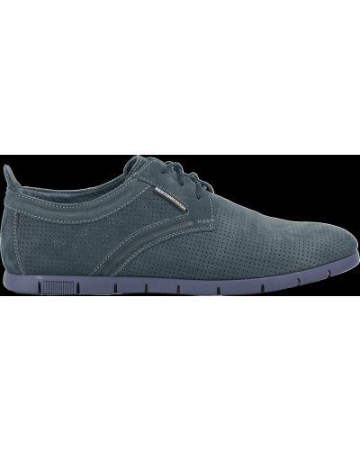 Деловые туфли - синие Bertoni