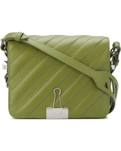 Кожаный сумка на плечо на молнии Off-white