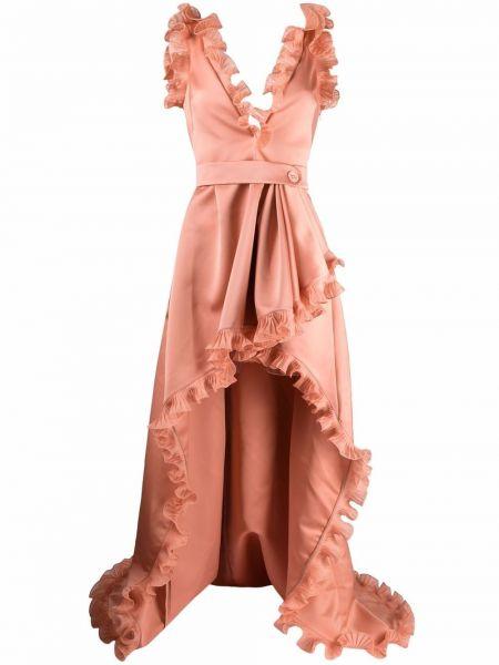 Розовое платье с открытой спиной Elie Saab