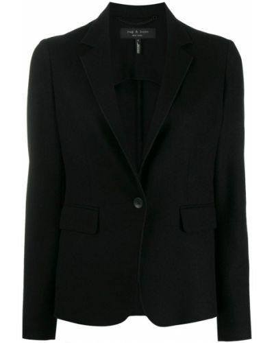 Классический пиджак черный шерстяной Rag & Bone