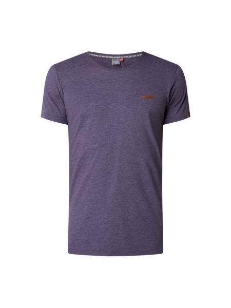 Fioletowa t-shirt bawełniana Ragwear