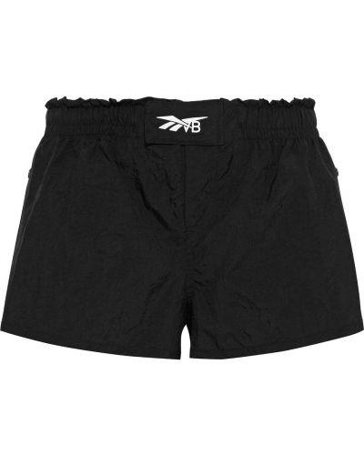Черные нейлоновые шорты Reebok X Victoria Beckham