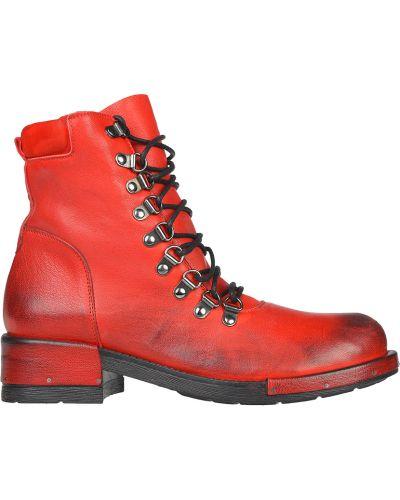 Кожаные ботинки - красные L'estrosa