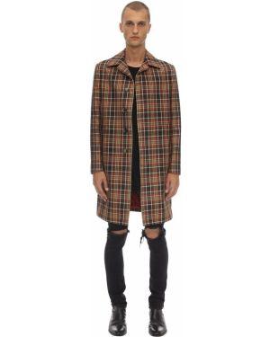 Płaszcz bawełniany w kratę Bottega Martinese