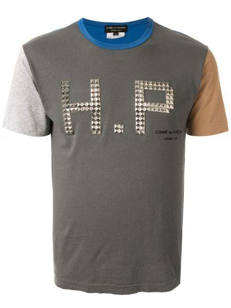 Серая прямая футболка в рубчик винтажная Comme Des Garçons Pre-owned