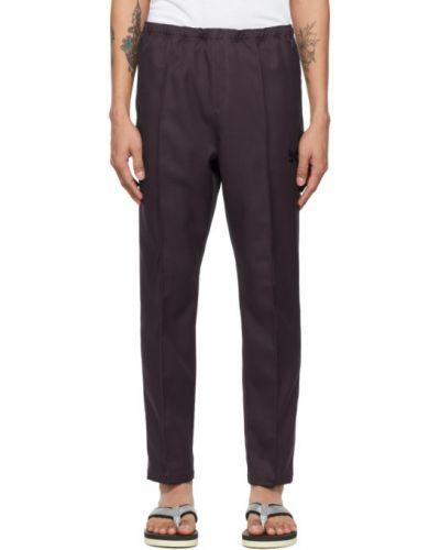 Фиолетовые хлопковые брюки с карманами Needles