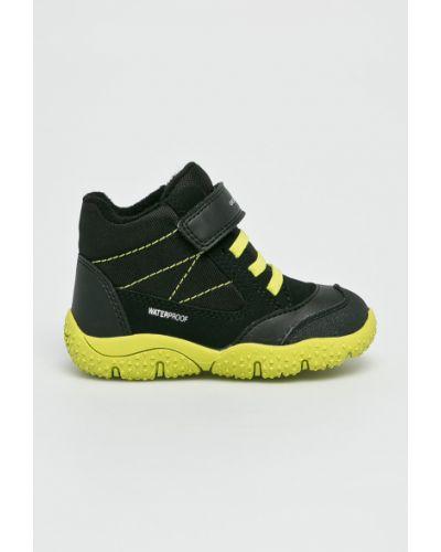 Черные туфли текстильные Geox