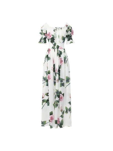 Вечернее платье макси из поплина Dolce & Gabbana