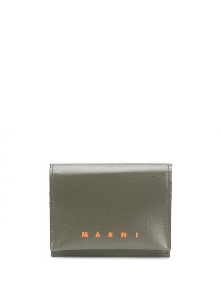 Zielony portfel z gniazdem Marni