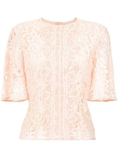 Блузка с открытыми плечами кружевная розовая Martha Medeiros