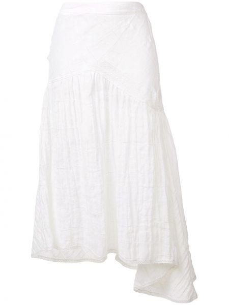 Расклешенная юбка миди с поясом в рубчик Kristina Ti