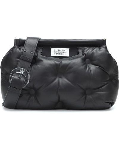 Кожаная сумка на плечо текстильная Maison Margiela