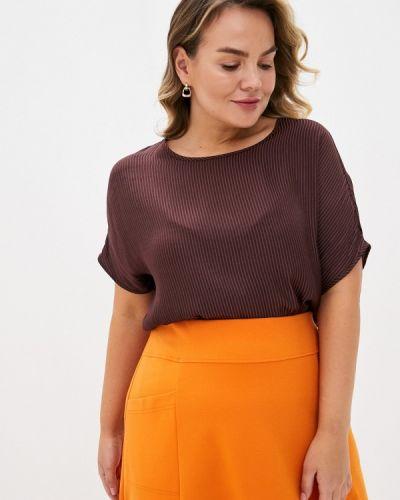 Бордовая блузка с коротким рукавом с короткими рукавами Zizzi