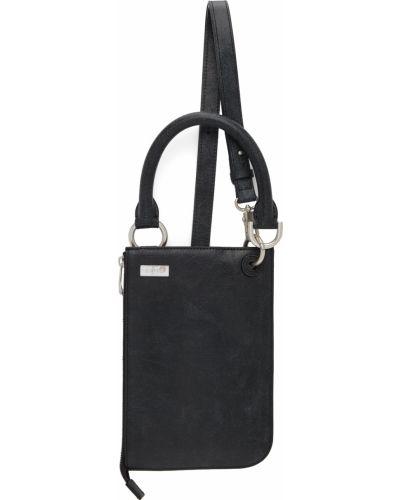Czarna torba na ramię skórzana Ader Error