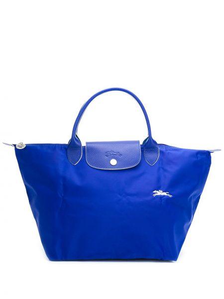 Skórzana torebka na ramię średnia Longchamp