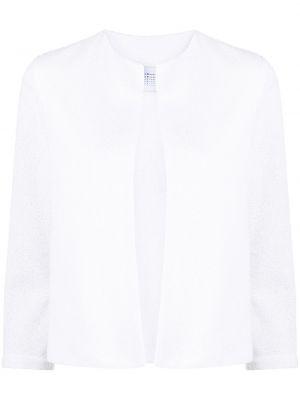 Хлопковая ватная белая длинная куртка Harris Wharf London