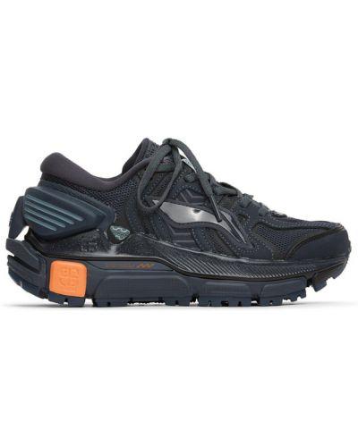 Черный ажурный топ на шнуровке с воротником Li-ning