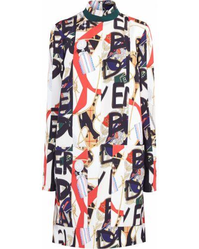 Платье шерстяное шелковое Burberry