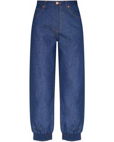Укороченные джинсы на резинке свободные Gucci
