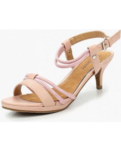 Розовые босоножки на каблуке Mirambo