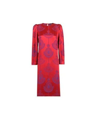 Красное вечернее платье из вискозы Vuall