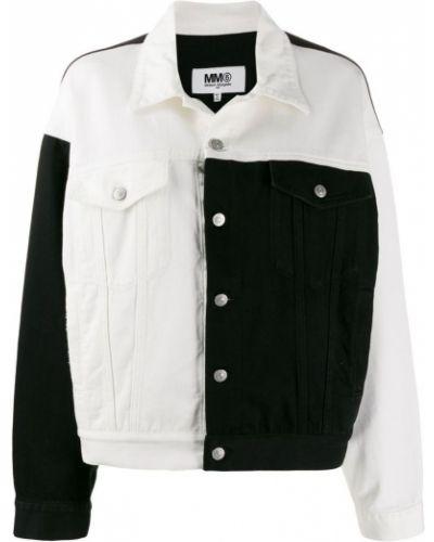 Джинсовая куртка черная на пуговицах Mm6 Maison Margiela