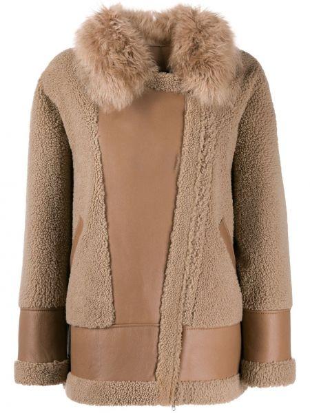 Мешковатая кожаная короткая куртка на молнии Blancha