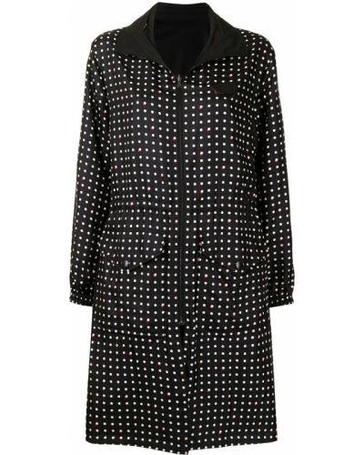 Черное пальто на подкладке Louis Vuitton