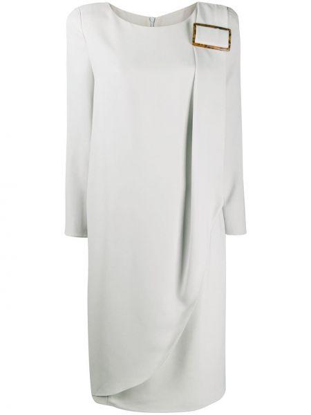 Платье миди серое с запахом Giorgio Armani