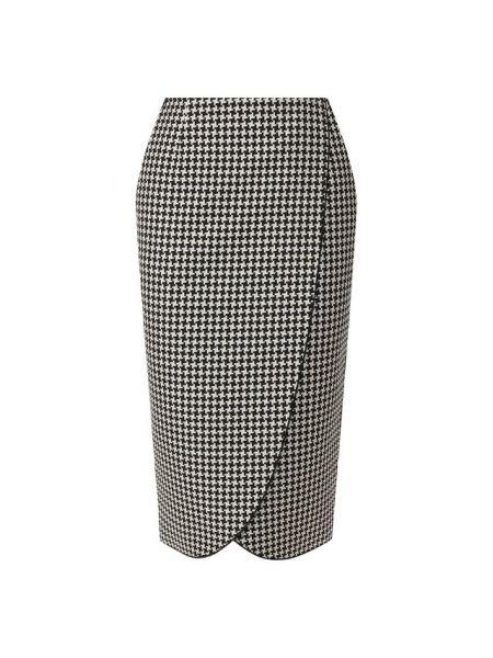 Деловая юбка карандаш с запахом с рукавом 3/4 для офиса Giorgio Armani